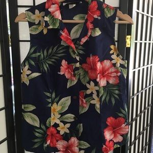Tops - Hawaiian shirt tropical luau
